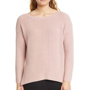 Eileen Fisher Beteau Neck box top merino wool S